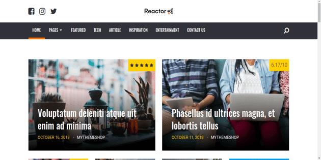 Reactor Tema Wordpress Seo Friendly